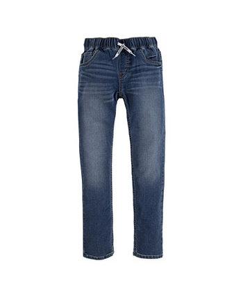 Узкие трикотажные брюки без застежки для больших мальчиков Levi's®
