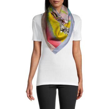 Джодхпур Берд & amp; Шелковый шарф с цветочным рисунком Etro