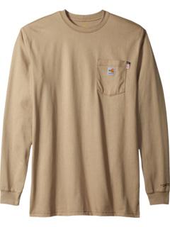 Большая и высокая огнестойкая футболка с длинными рукавами из хлопка Force Carhartt