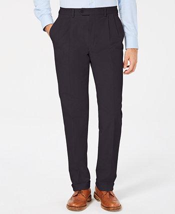 Мужские классические / вельветовые классические брюки с двойной перевернутой складкой и классическим / стандартным кроем Ralph Lauren