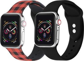 Силиконовые ремешки для Apple Watch - набор из 2 штук - 38 мм / 40 мм POSH TECH