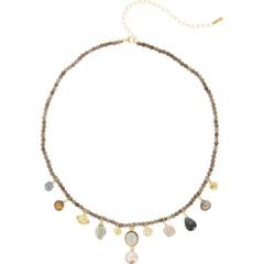 Ожерелье с подвесками из полудрагоценных камней и пресноводного жемчуга Chan Luu