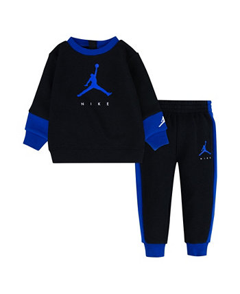 Toddler Boys Jumpman by Nike Crew Sweatshirt and Pants Set Jordan