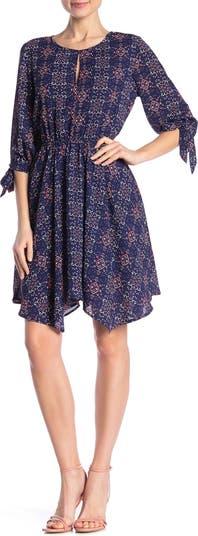 Асимметричное платье с завязками на рукавах Collective Concepts