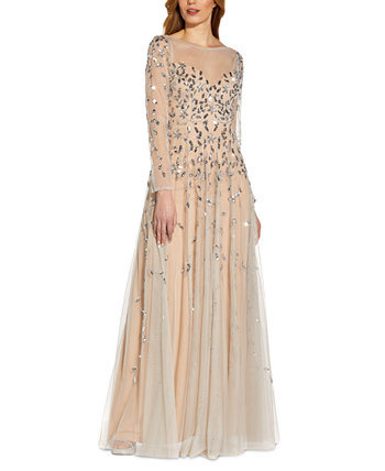Embellished Illusion Gown Adrianna Papell