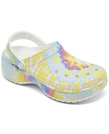 Women's Classic Platform Tie-Dye Graphic Clogs from Finish Line Crocs