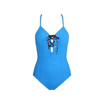 Сплошной купальник Lacey Tie Breaker Skinny Dippers