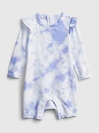 Сплошной комбинезон Baby Recycled Tie-Dye Swim Rash Guard Gap