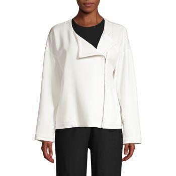 Куртка на молнии с круглым вырезом Eileen Fisher