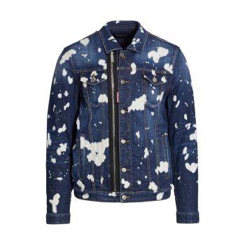 Bleach Splash Denim Jacket DSQUARED2