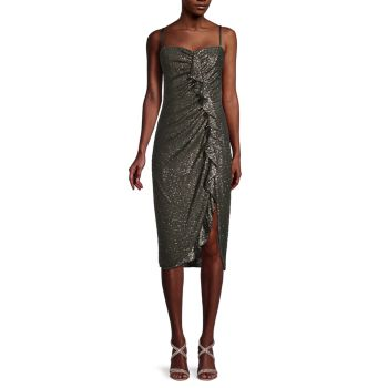 Strapless Sequin Midi Dress Jonathan Simkhai