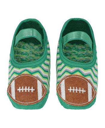 Противоскользящие хлопковые носки для маленьких мальчиков и девочек с футбольной аппликацией NWALKS