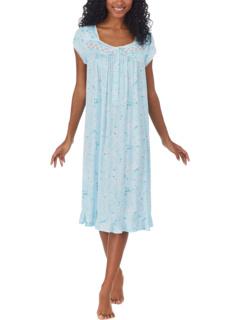 Cotton Tencel Knit Cap Sleeve Waltz Gown Eileen West