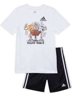 Набор футболок и шорт с рисунком (для малышей / маленьких детей / детей старшего возраста) Adidas Kids