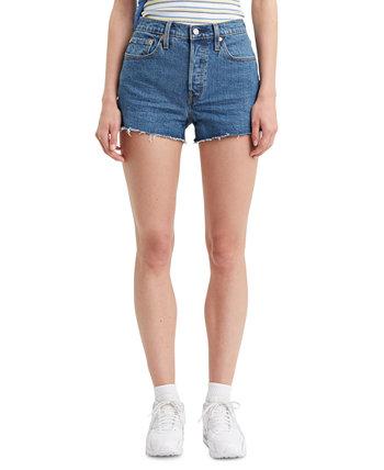 Женские джинсовые шорты из хлопка 501 с высокой посадкой Levi's®