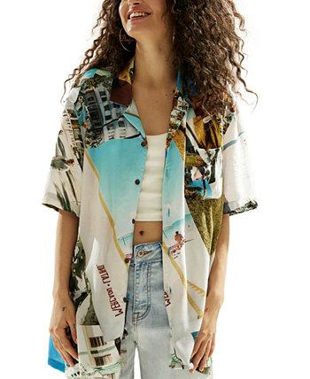 Курортная рубашка унисекс с принтом South Beach Desigual