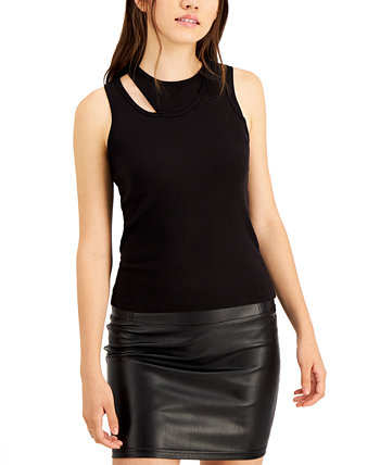 Ribbed Layered-Look Cut-Out Tank Top LNA