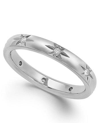 Звезда от Diamond Star Wedding Band из 18-каратного белого золота (1/8 карат. Вес.), Созданный для Macy's Marchesa