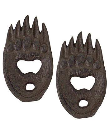 Открывалка для бутылок Forest Bear Grizzly Paw, набор из 2 шт. Design Toscano