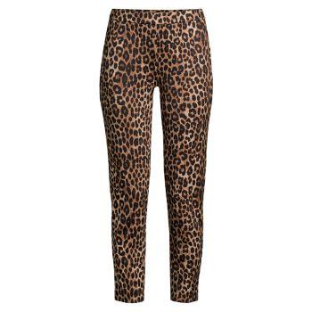 Укороченные брюки-понте с леопардовым принтом MICHAEL Michael Kors