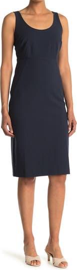 Платье с отверстиями на пуговицах сзади CLUB MONACO