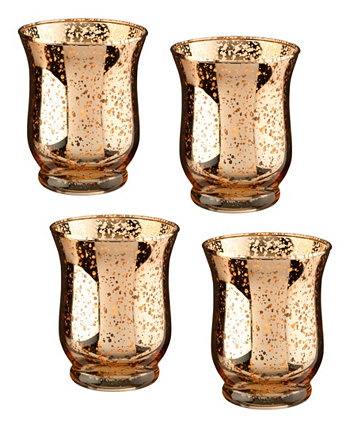 Стеклянные держатели для обета или чайных лампочек в форме тюльпана Mercury в наборе из 4 шт. Lillian Rose