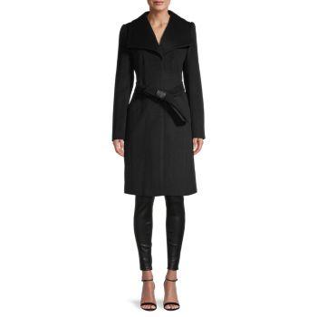 Пальто из смесовой шерсти Karl Lagerfeld Paris