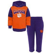 Preschool Orange/Purple Clemson Tigers Sideline Hoodie & Pants Set Outerstuff