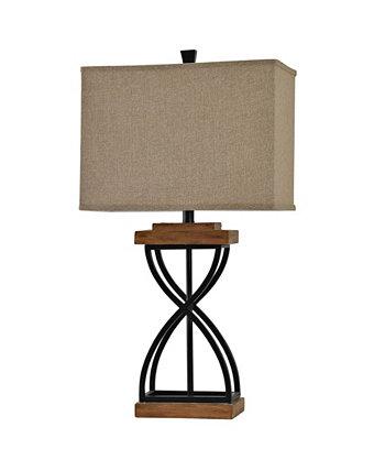 Настольная лампа из ткани в твердом переплете StyleCraft