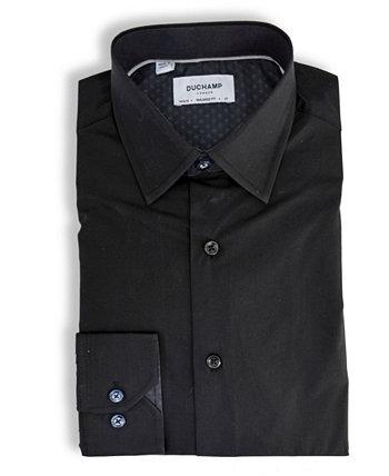 Твердая фактурная классическая рубашка DUCHAMP