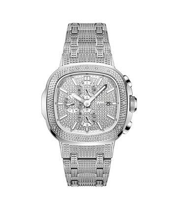 Мужские часы Diamond (1/5 карата) из нержавеющей стали 48 мм JBW