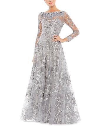 Платье с вышивкой и вышивкой MAC DUGGAL