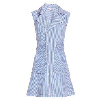 Платье-рубашка в полоску из атласа DEREK LAM 10 CROSBY