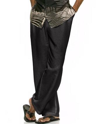 """Твердые льняные брюки на шнуровке 30 """"Inseam Cubavera"""