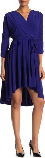 Платье миди с высокой / низкой сборкой и сборками Eliza J