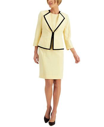 Костюм с контрастной отделкой Le Suit