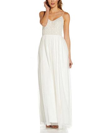 Платье с вышивкой из бисера Adrianna Papell