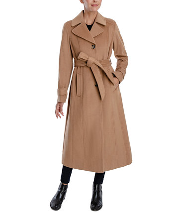 Single-Breasted Belted Maxi Coat Anne Klein