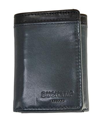 Мужской RFID кожаный кошелек DUCHAMP