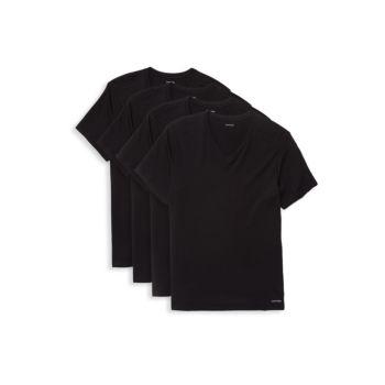 Four V-Neck T-Shirt Set Calvin Klein