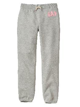 Флисовые брюки с логотипом Kids Gap Gap Factory