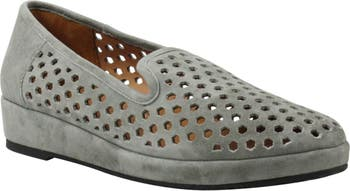 Clemence Perforated Wedge Loafer LAMOUR DES PIEDS