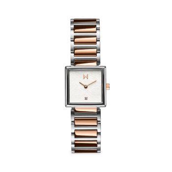 Двухцветные часы с браслетом из нержавеющей стали Frost Winter Rose MVMT