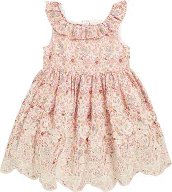 Платье Ditzy с цветочной вышивкой и бордюром Laura Ashley