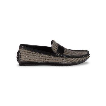 Textile & Leather Loafers Donald J Pliner