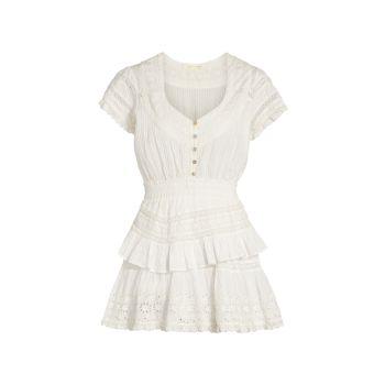 Мини-платье Doily Victorian Jeromie LOVESHACKFANCY