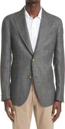 Glen Plaid Alpaca, Wool & Linen Sport Coat Eleventy