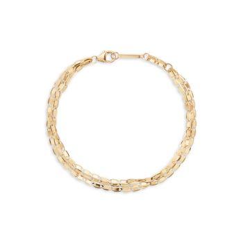 Браслет из трех нитей из желтого золота 14 карат Lana Jewelry