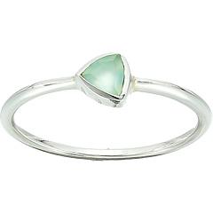 Треугольное халцедоновое каменное кольцо Pura Vida