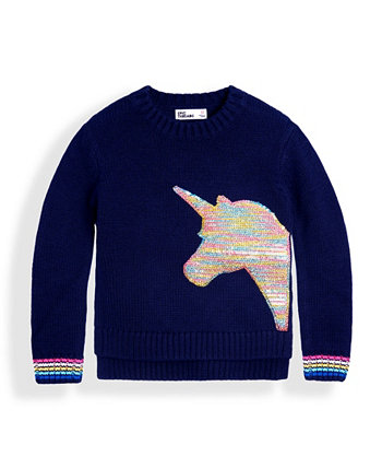 Toddler Girls Sequin Graphic Sweater Epic Threads